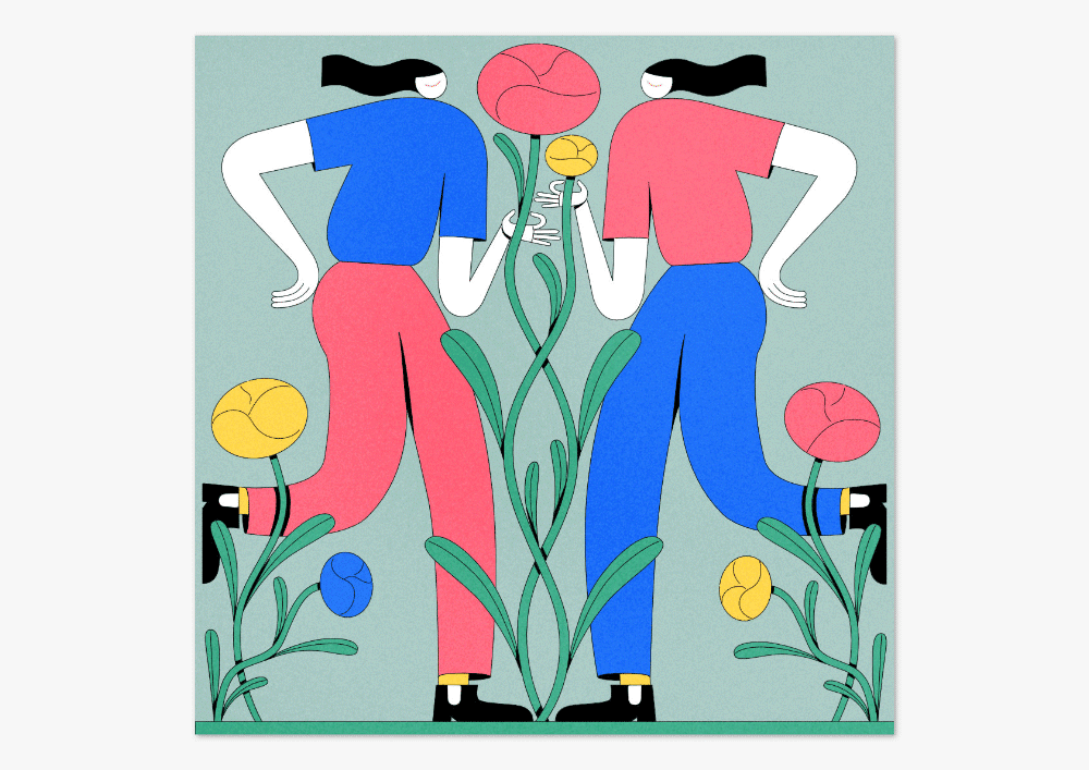 Illustration von Anne Albert mit dem Titel Garden
