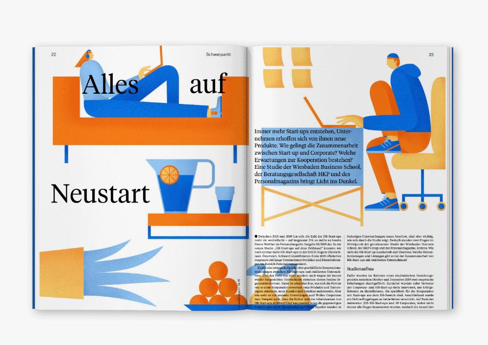 Editorial Illustration von Anne Albert im Personalmagazin