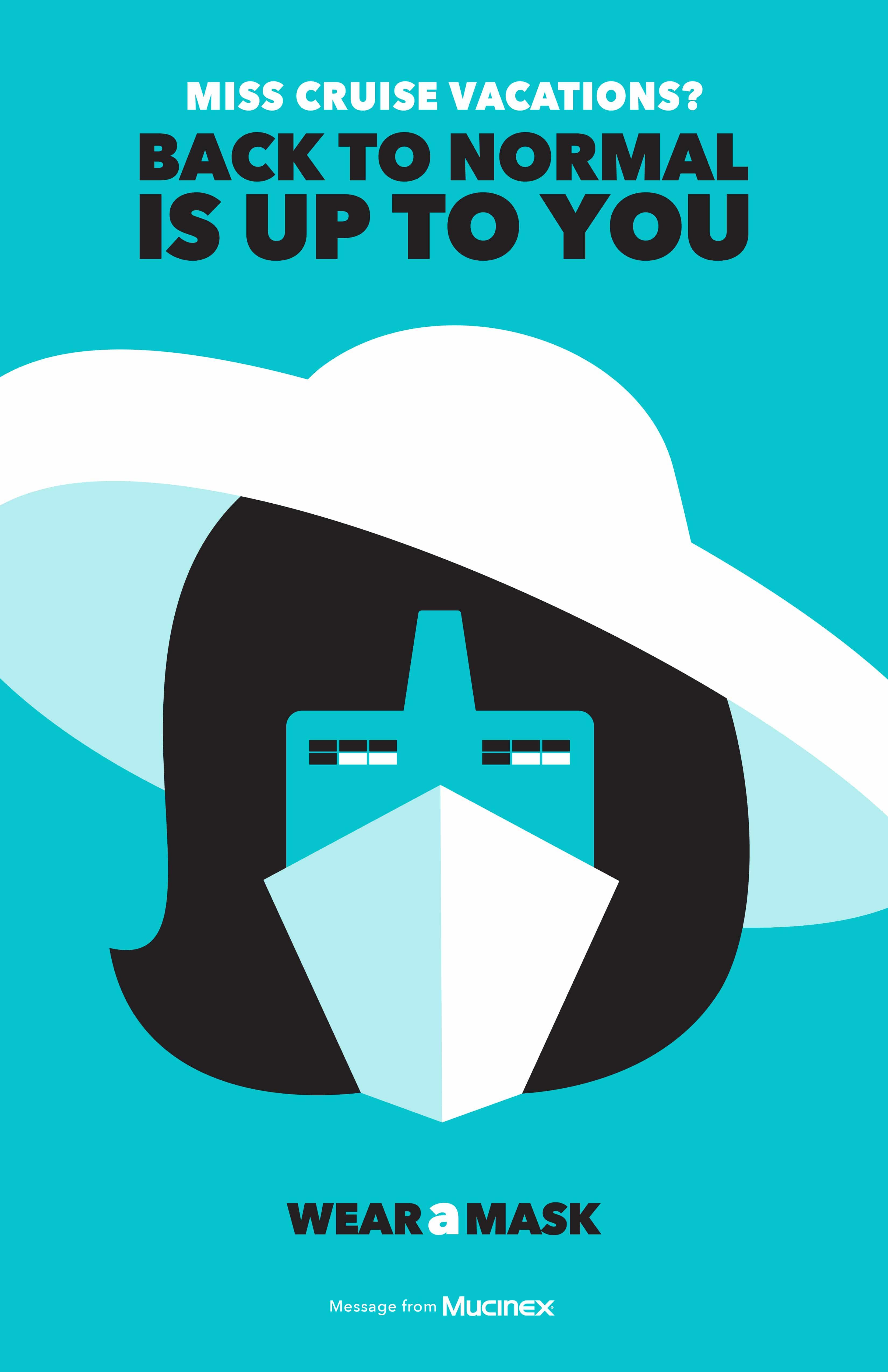 Plakat zum Maske tragen von Illustrator Noma Bar