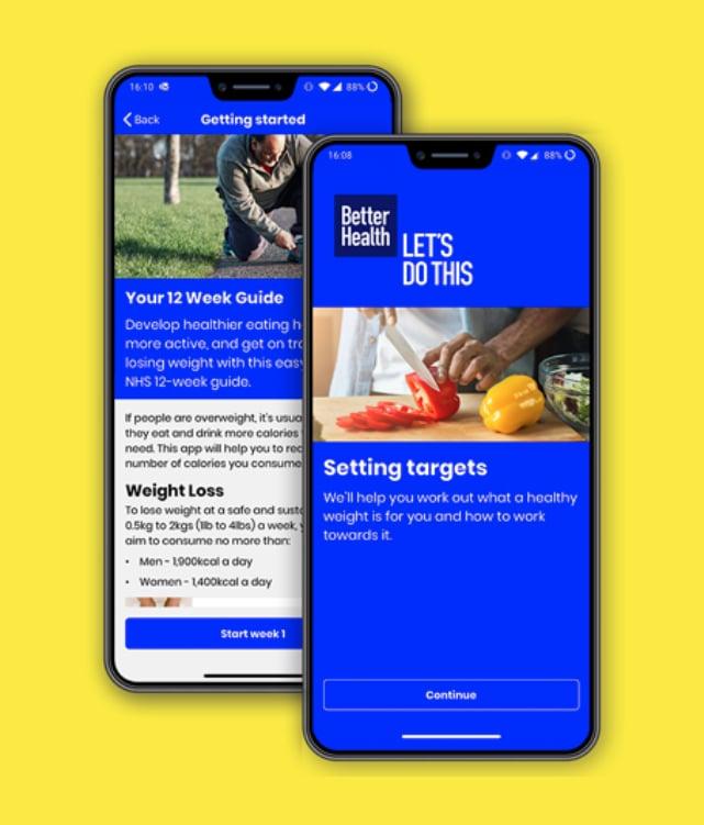 Kostenlose Abnehm-App Better Health