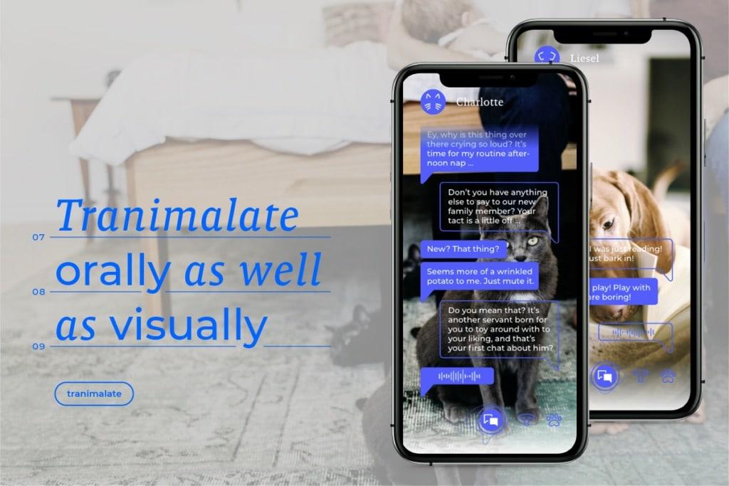 Übersetzungs-App Tiersprache Abschlussarbeit Graphische Wien
