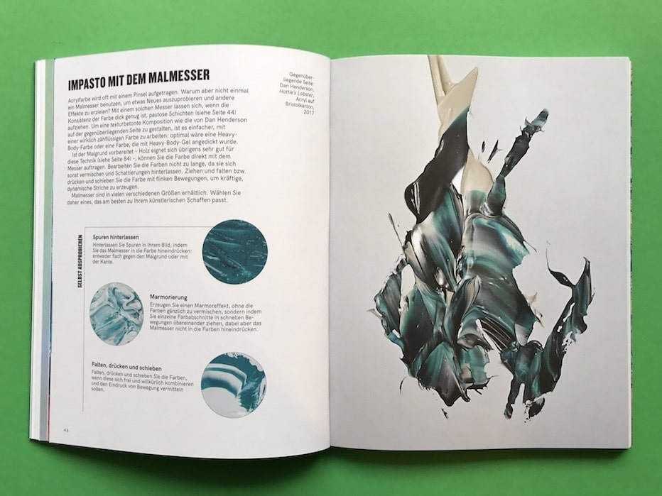 Anleitung Acryl Malerei Impasto Malmesser