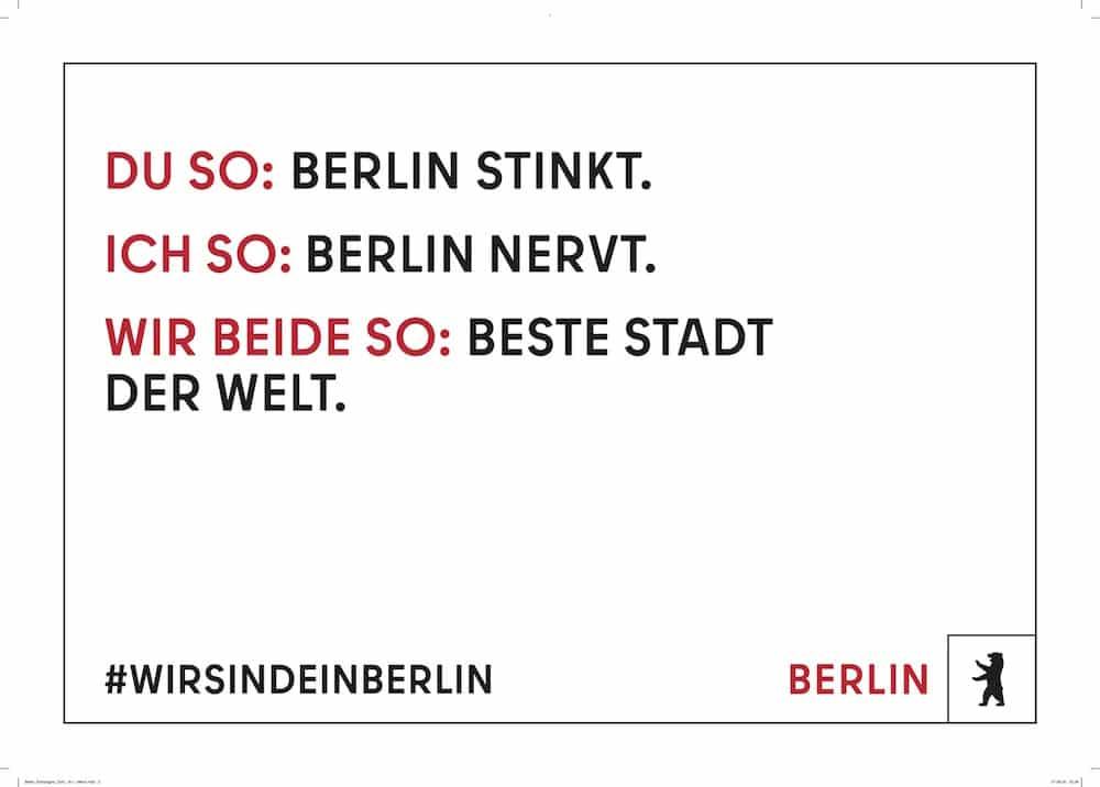 Plakat des neuen Berlin-Markenauftritts