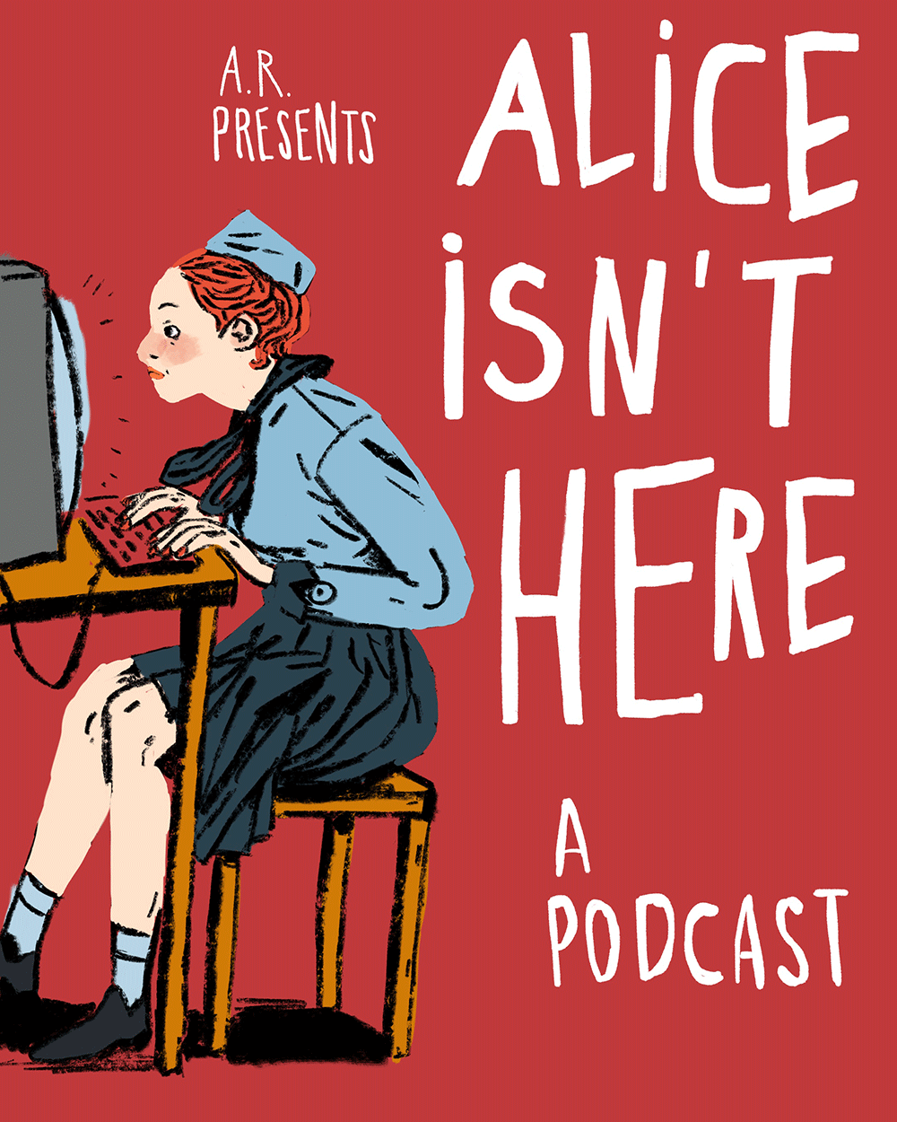 Illustration von Ayşe Klinge für den Podcast »Alice isn't here«