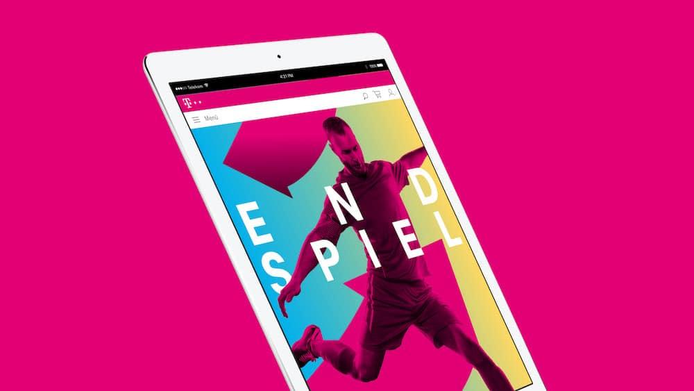Überarbeitetes Telekom Branding auf dem iPad