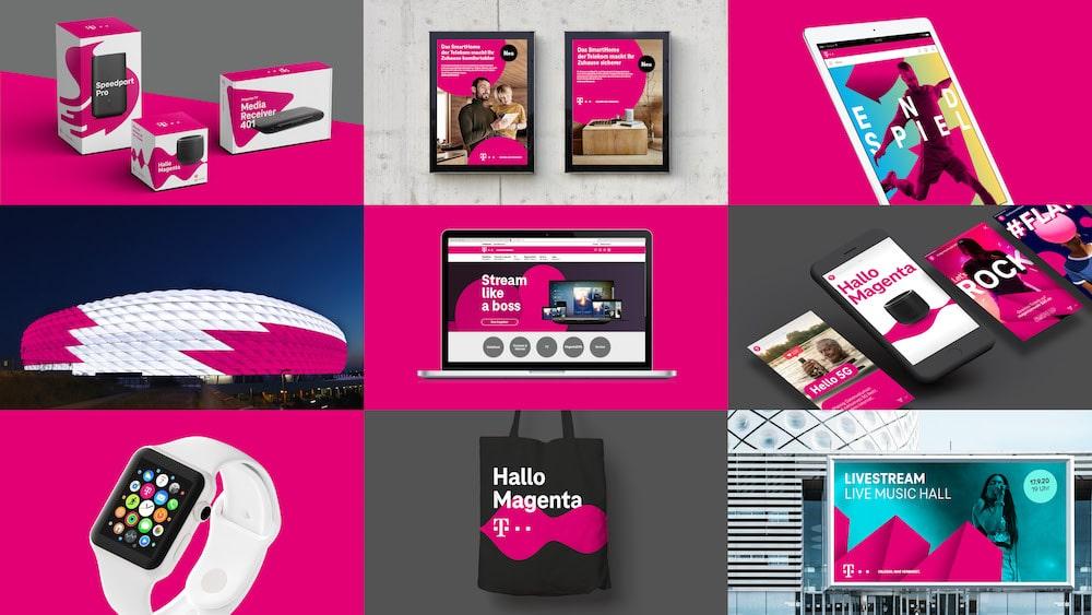 Liquis Brand Design in allen Telekom Anwendungen zu sehen