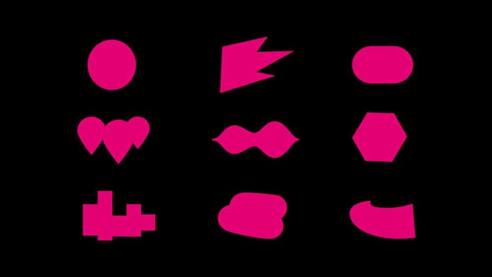 Überarbeitetes Telekom Branding mit den verschiedenen Shapes