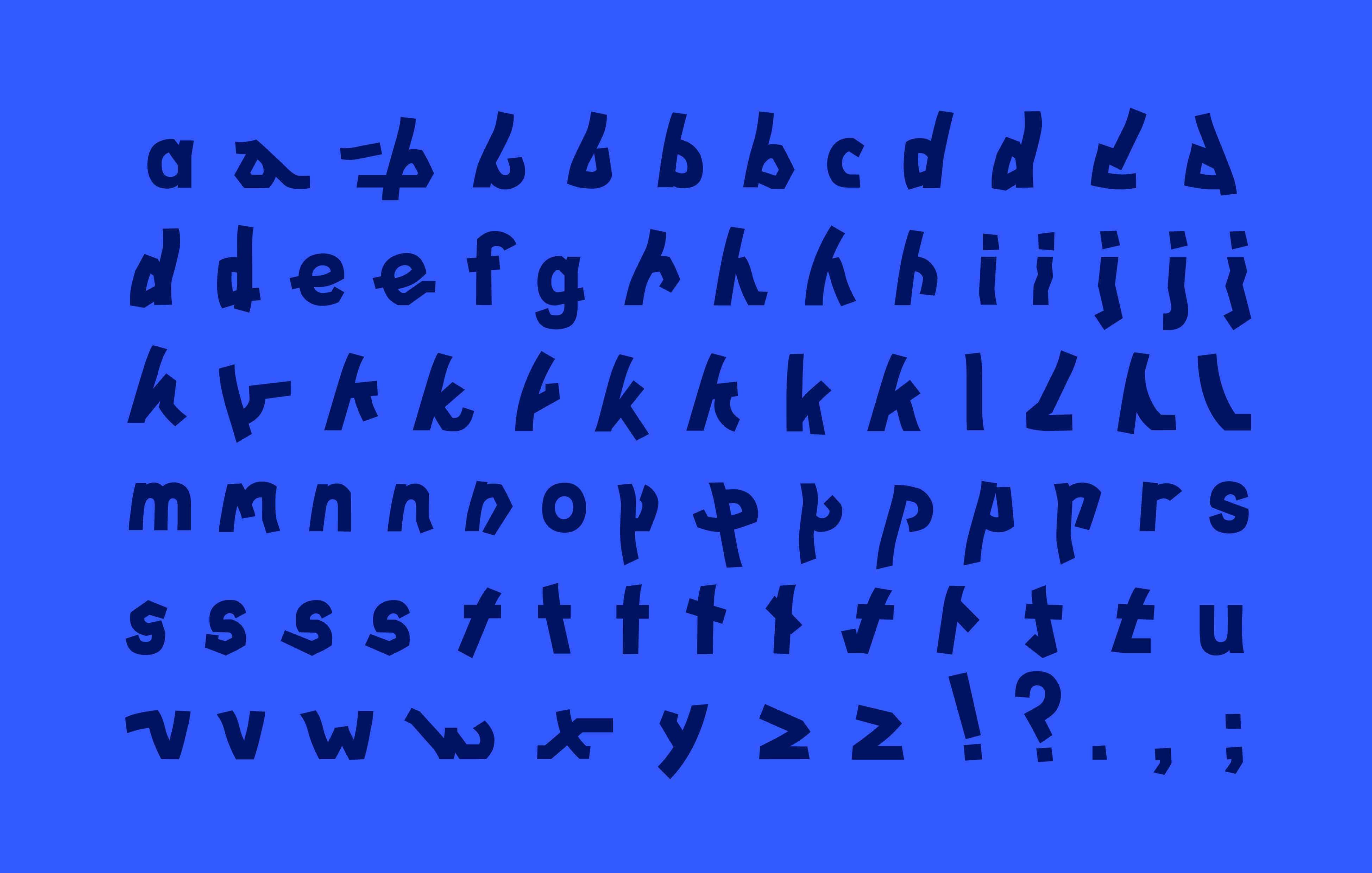 der komplette zeichensatz des stotts alphabets