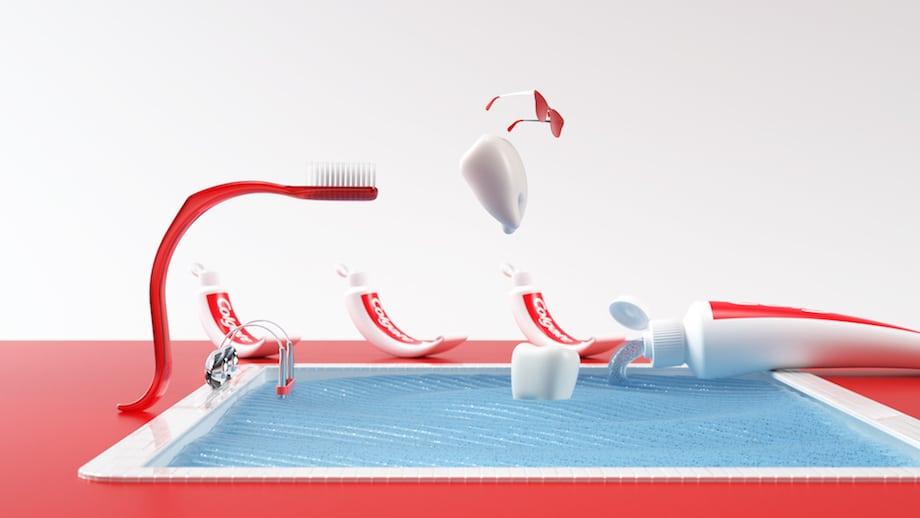 Zahnpasta Werbespot CGI 3D-Design