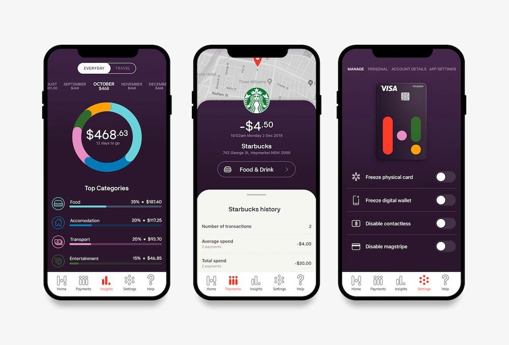 Digitales Banking: Smartphones Screens mit Kontoeinsicht