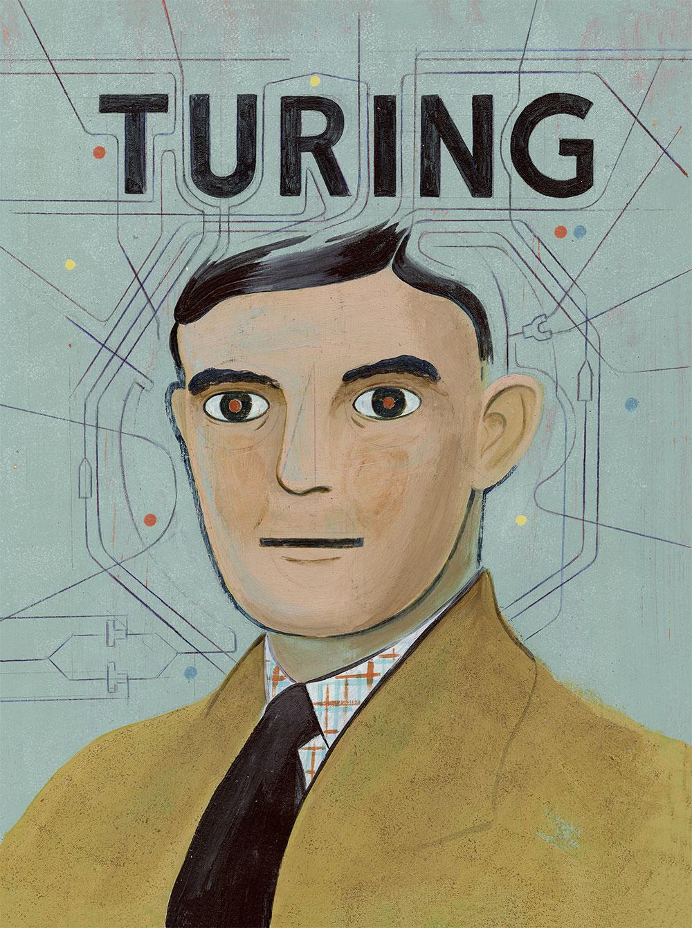Turing (Cover für die Graphic Novel, die beim Avant-Verlag erschienen ist)