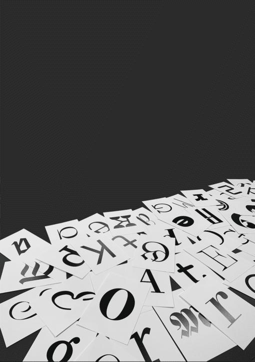 Künstliche Intelligenz und Schriftklassifizierung: Buchstaben für die Präsentation