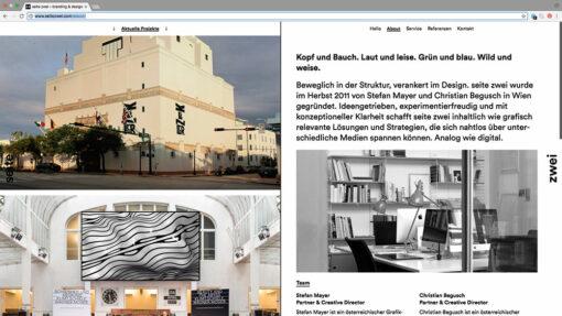 Portfolio-Selbstmarketing: seite zwei aus Wien