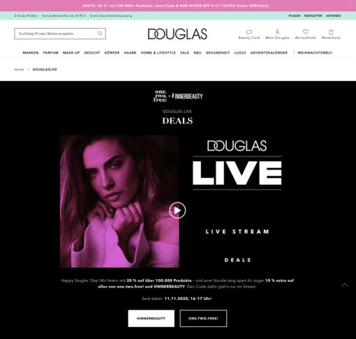 Douglas live singles day
