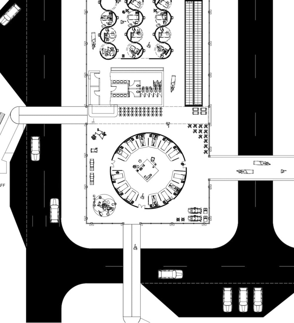 Flughafen BER Redesign Covid Hospital Benedikt Hartl
