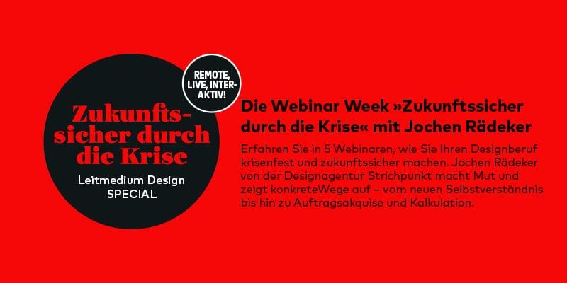 Webinar für Designer: Zukunftssicher durch die Krise
