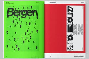 Plakatdesign experimentelle Typografie