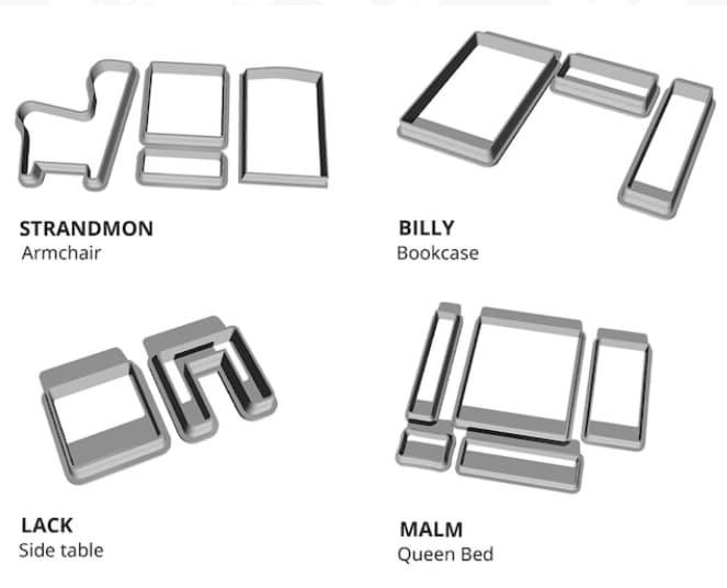 IKEA-Möbel Backformen aus dem 3D-Drucker