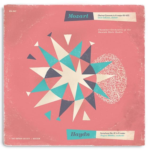 Modernistische Platten-Cover Javier Garcia