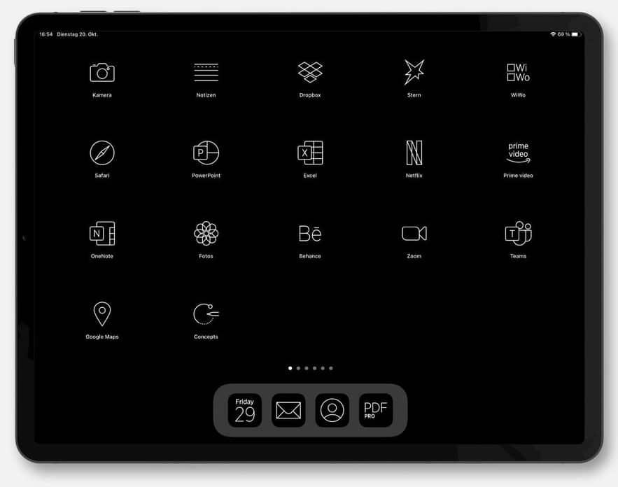 iPad App-Ikons viele deutsche Apps