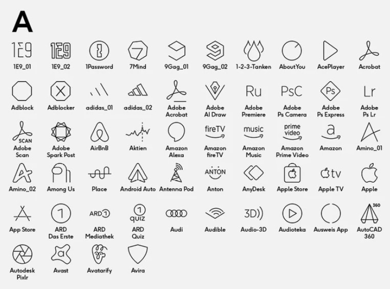 iPhone-App-Icons deutsche Apps