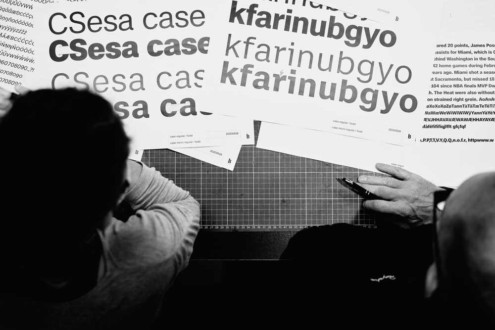 Schriftfamilie Case