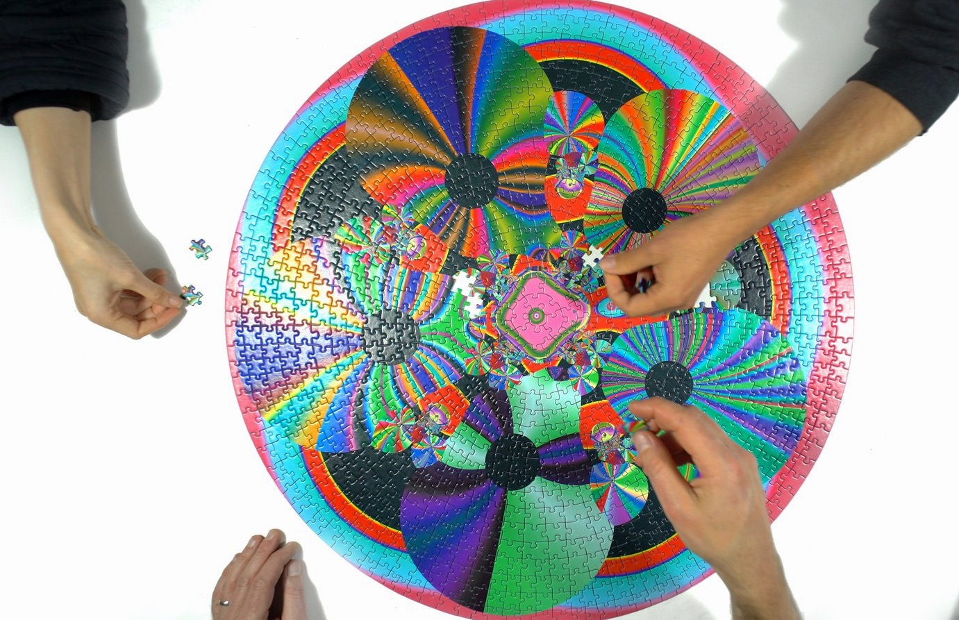 Puzzle mit psychedelischem Muster 100 Teile