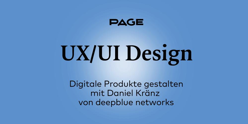 UX/UI Design: digitale Produkte gestalten lernen