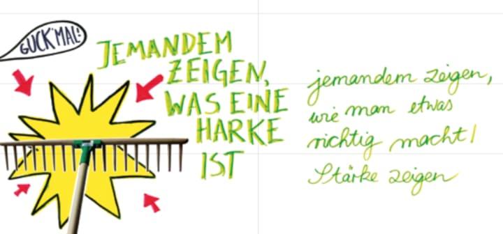 Deutsche Redewendungen mit witzigen Illustrationen erklärt