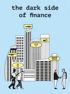 Infografische Illustration dunkle Finanzwelt