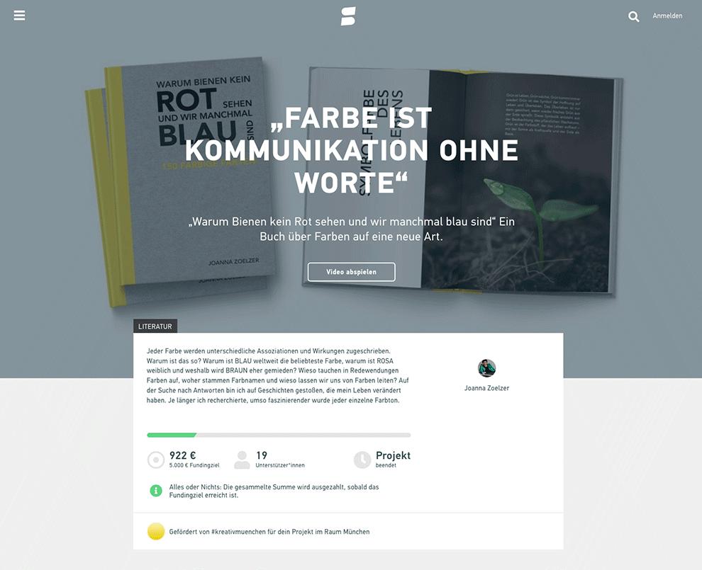 Startnext-Kampagne: Farbe ist Kommunikation