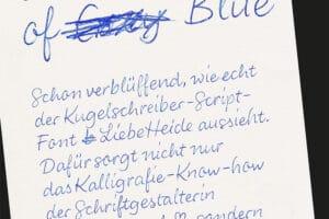 Typographie: Handlettering Font in Kuli-Optik