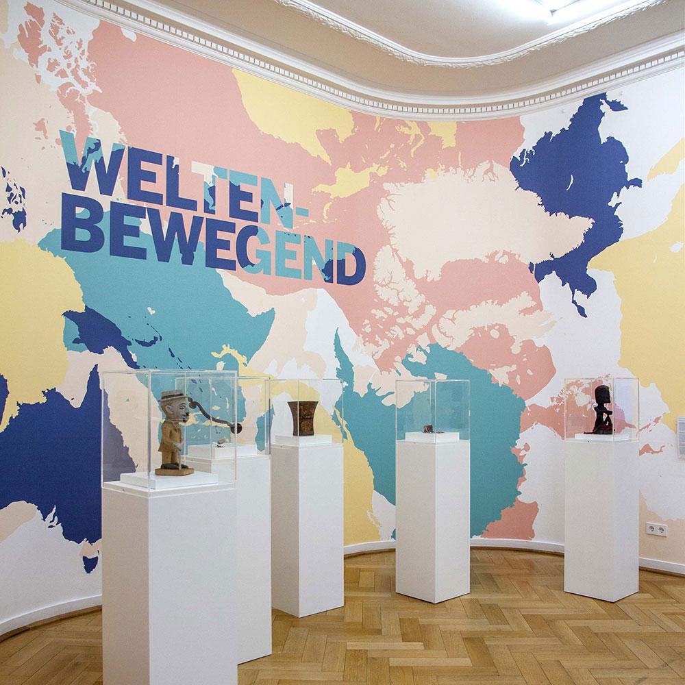 Ausstellungsgestaltung für das Weltkulturen Museum Frankfurt