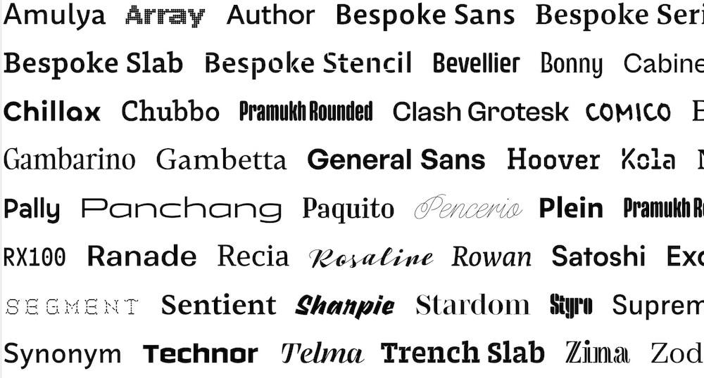 FontshareSchriften