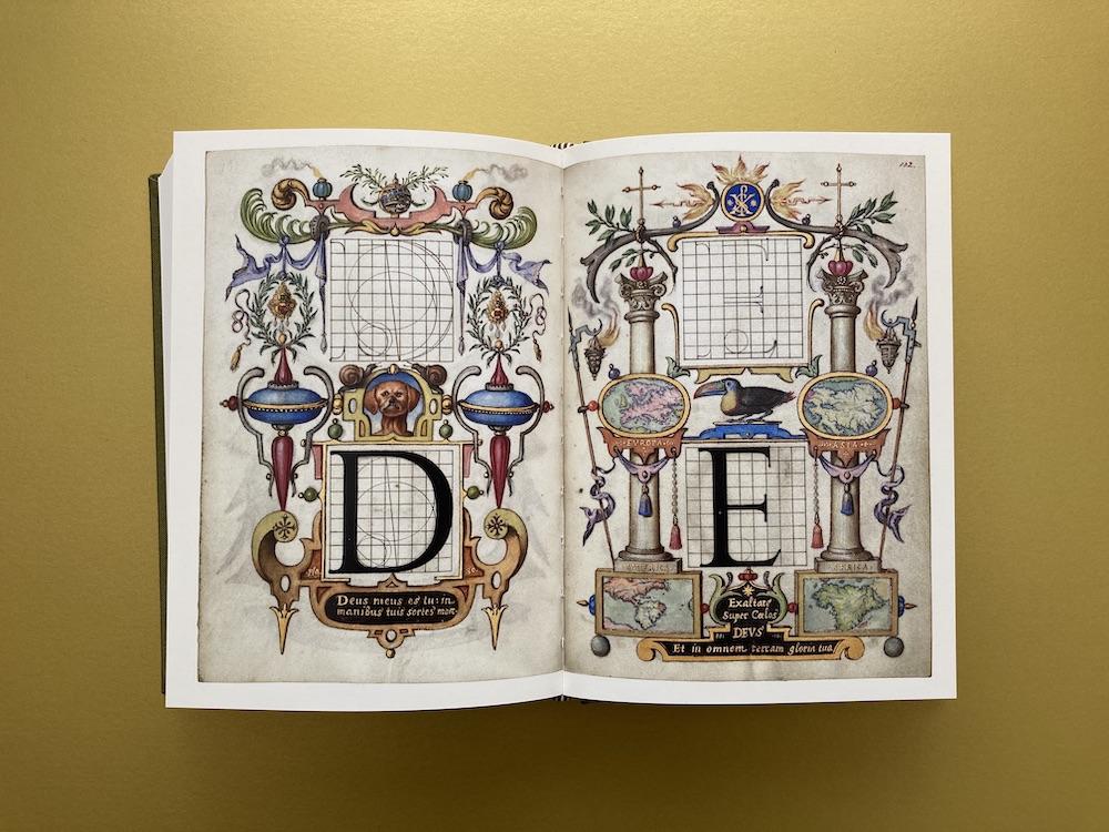 Buchstaben konstruieren im Raster 16. Jahrhundert