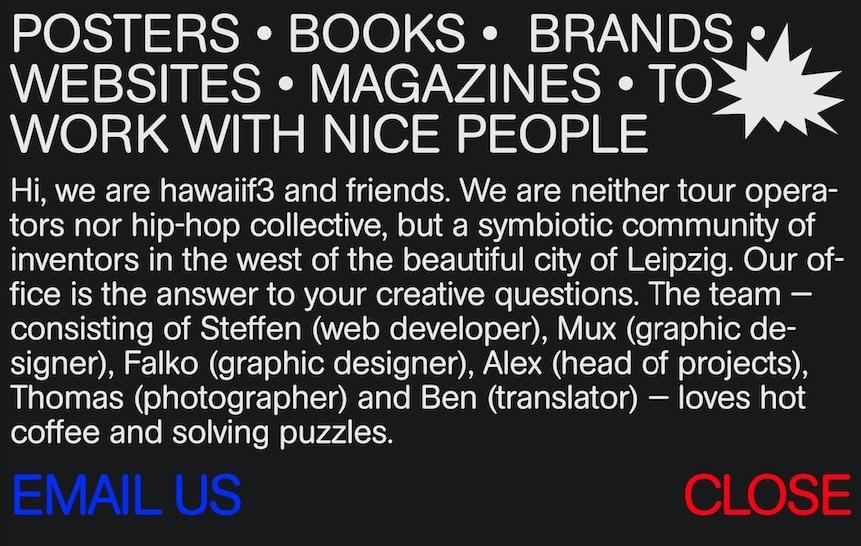 Agentur-Website Branding About HawaiiF3