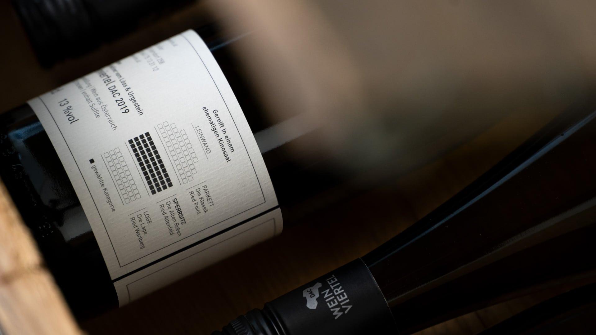 Weinkino Etikett Rückseite