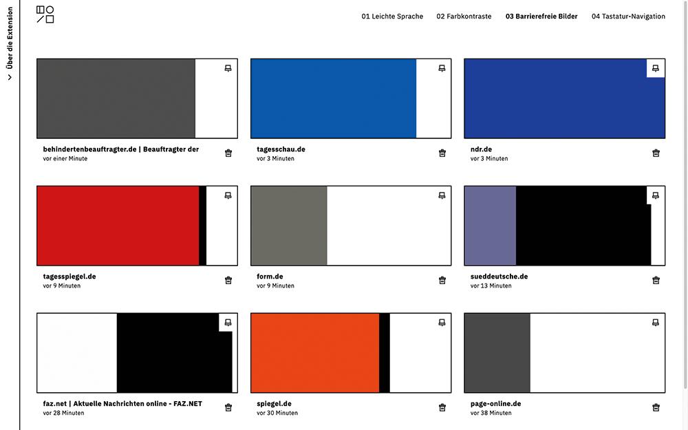 Visualisierung der Alt Texte im Vergleich