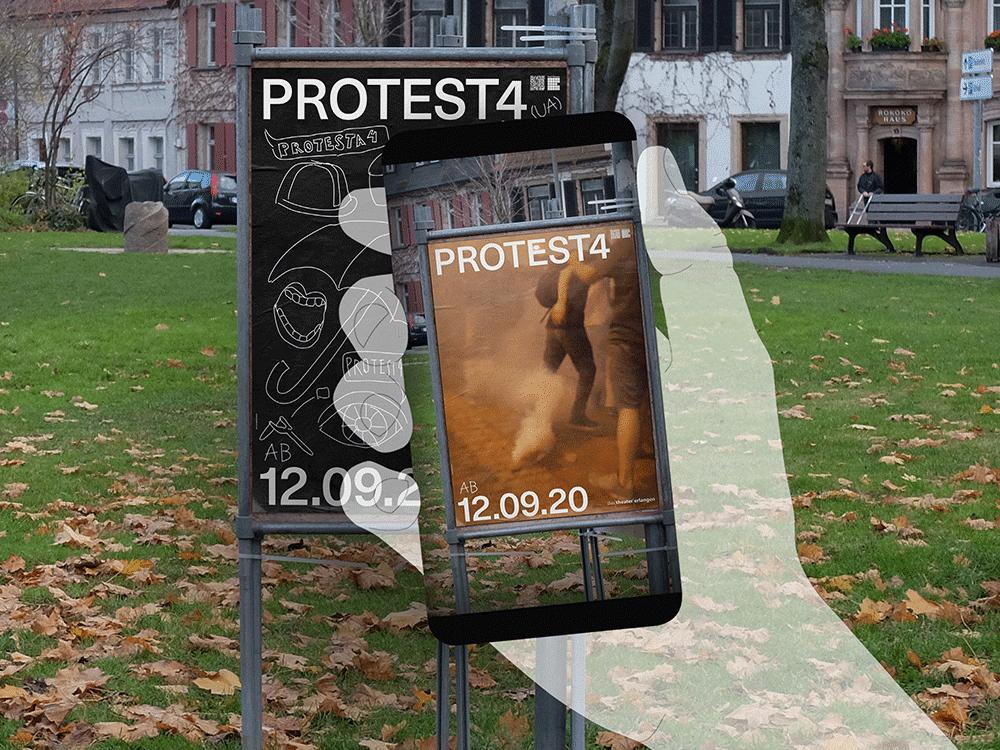 Animierte Plakate - MockUp - Theater Erlangen