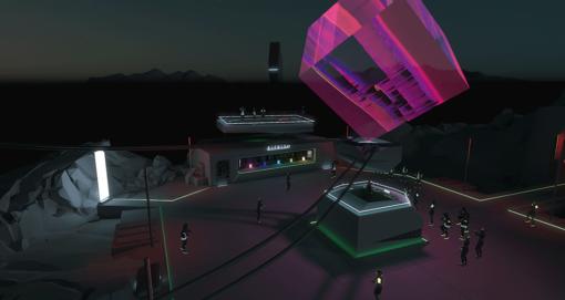 Virtuelle Klublandschaft mit 3D-Avataren in WebGL von Demodern für Kollektiv Turmstrasse