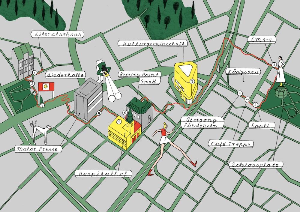 Comic Open-Air Ausstellung Stadtplan
