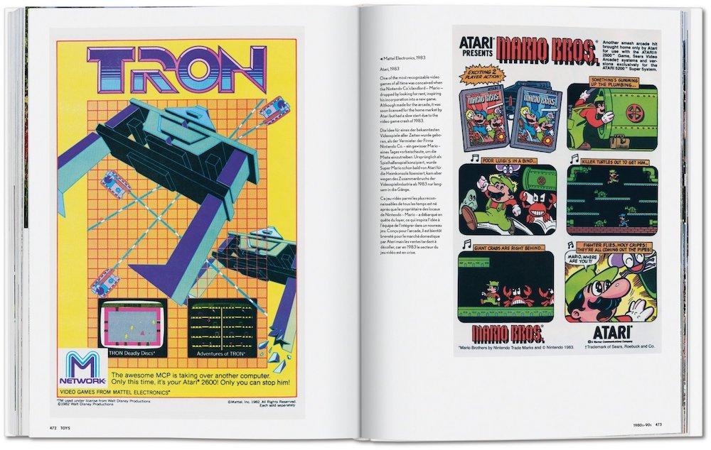 Vintage-Werbung Computerspiele