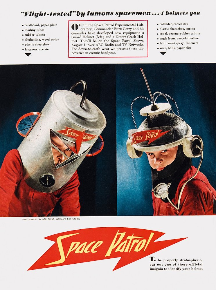 Vintage-Werbung Kinder Space Age
