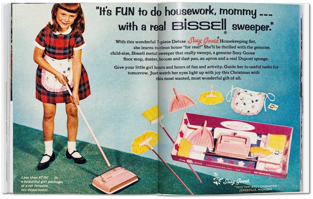 Vintage-Werbung für kleine Mädchen Haushalt