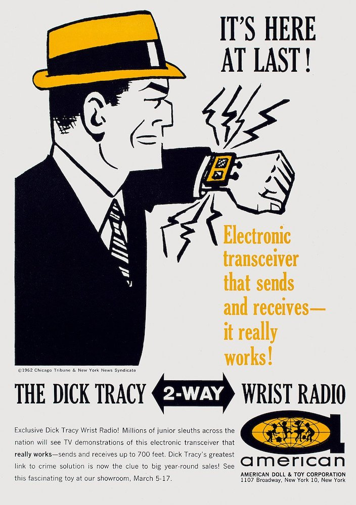 Vintage-Werbung USA Dick Tracy