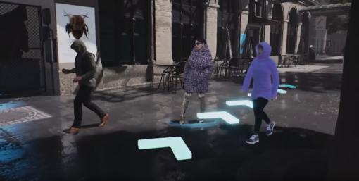 videogame balenciaga szene mit modellen auf der straße