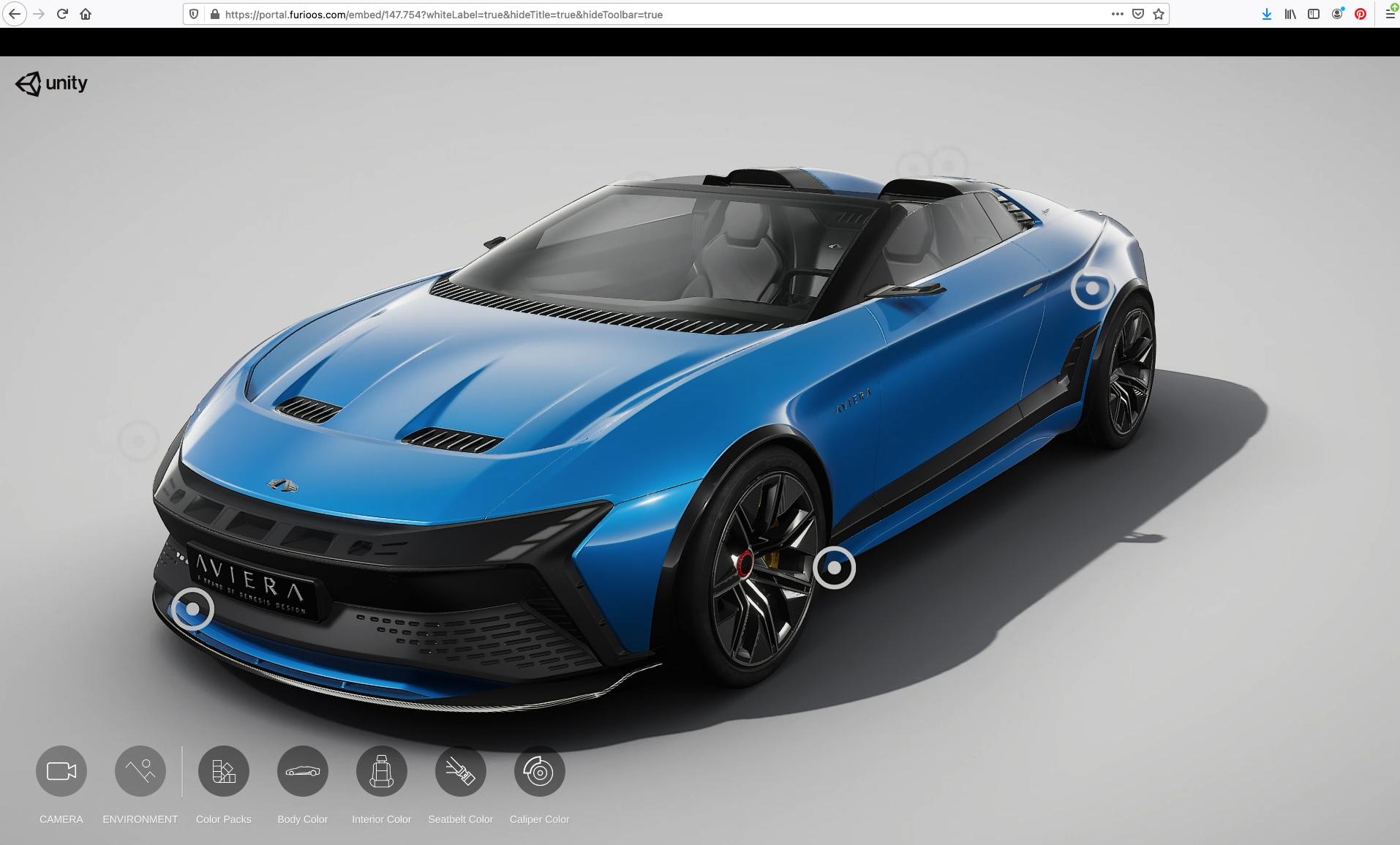 Blauersportwagen Cloudstream