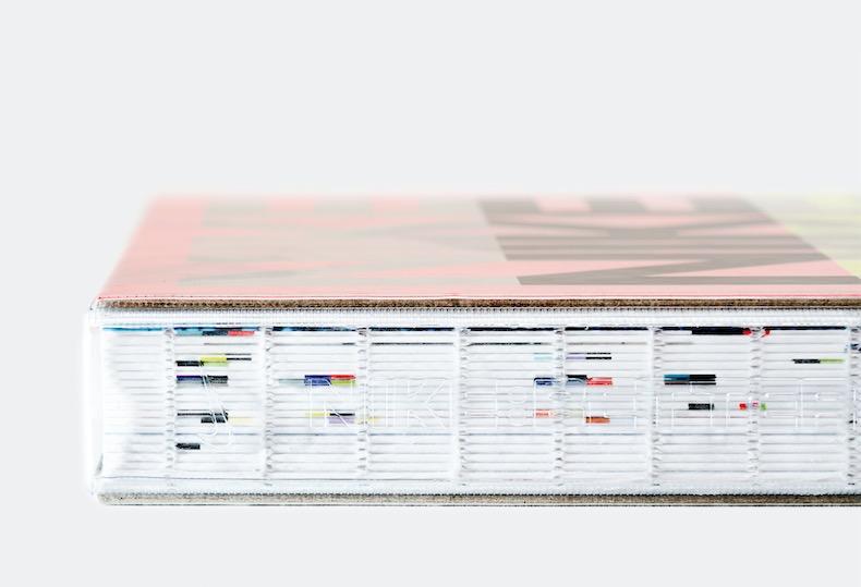 Buchdesign: transparenter Buchrücken