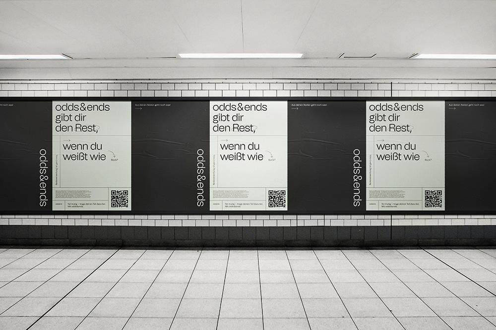 odd&ends U-Bahn Plakate