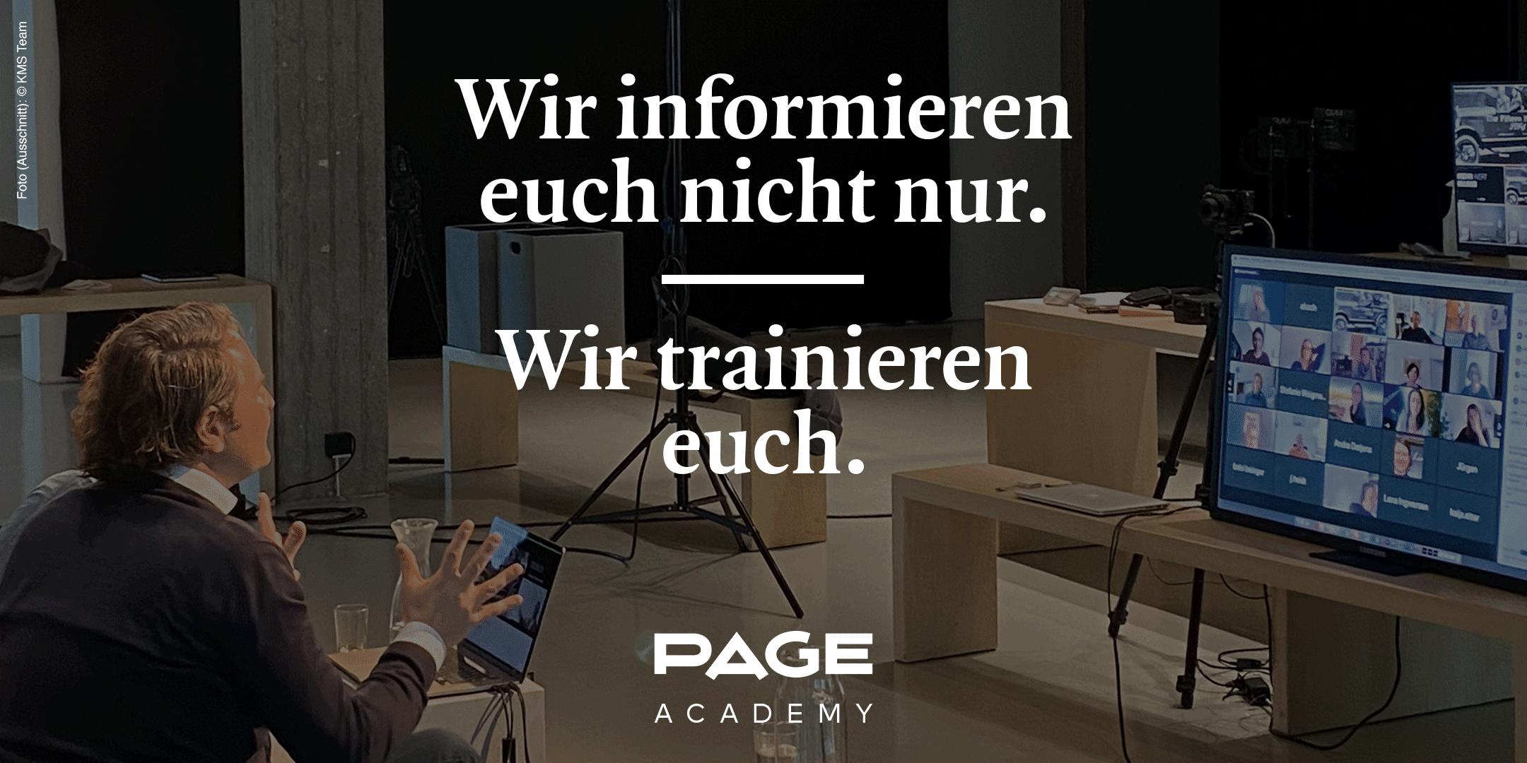 Design Webinare von der PAGE Academy